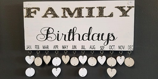 Family Birthday Wall Hanger Stone & Pallet™ Schererville - Eco-friendly Home Goods made by YOU!