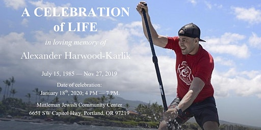 Celebration of life, Alexander Harwood-Karlik