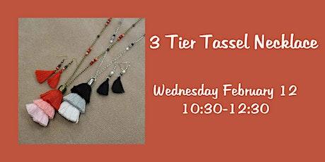 3 Tier Tassel Necklace tickets