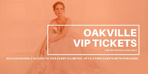 Opportunity Bridal VIP Early Access Oakville Pop Up Wedding Dress Sale