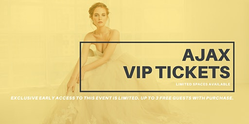 Opportunity Bridal VIP Early Access Ajax Pop Up Wedding Dress Sale