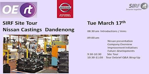 SIRF Vic/Tas - Nissan Castings Site Tour