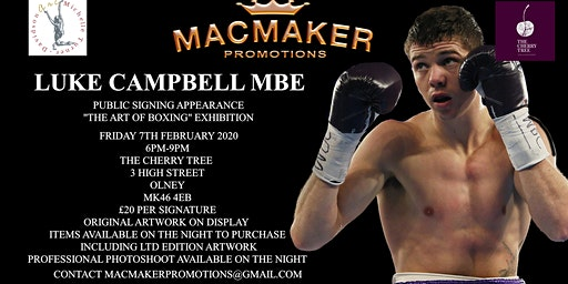 Public Signing Appearance With Luke Campbell MBE
