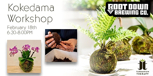 SOLD OUT- Orchid and Jade Kokedama Workshop at Root Down Brewing Company