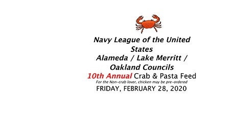 NLUS Alameda, Lake Merritt, Oakland Crab & Pasta Feed tickets
