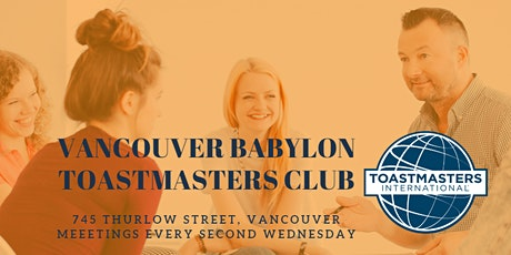 Vancouver Babylon Toastmasters Meeting tickets