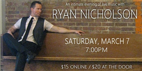 RYAN NICHOLSON at the WHISKEY ROOM LIVE tickets
