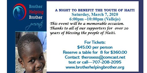 A Night to Benefit the Youth of Haiti