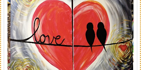 Double Love  Couples  Painting event special tickets