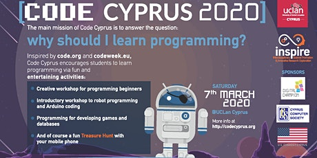 Code Cyprus 2020 tickets