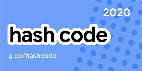 Hash Code 2020 biglietti