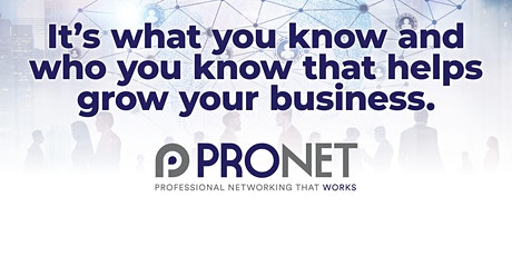 ProNet Professional Networking That Works - Sale Golf Club tickets