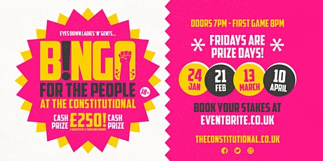 Bingo for the People - 24 Jan,21 Feb,13 March,10 April  tickets