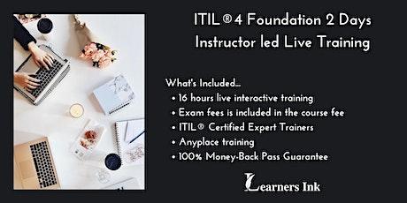 ITIL®4 Foundation 2 Days Certification Training in Santa Clara tickets