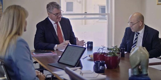 No obligation financial review with a financial adviser