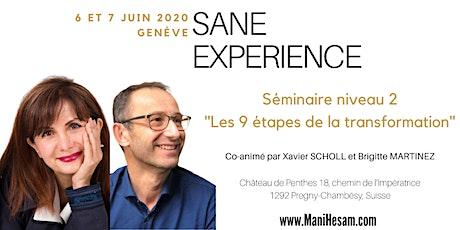 Séminaire SANE Expérience niveau 2 à Genève, animé par Brigitte Martinez & Xavier Scholl  billets