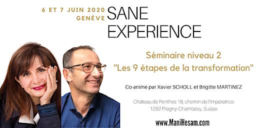 Séminaire SANE Expérience niveau 2 à Genève, animé par Brigitte Martinez & Xavier Scholl