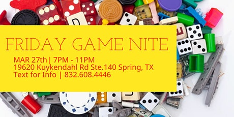 Friday Game Nite   The Woodlands & N. Houston tickets