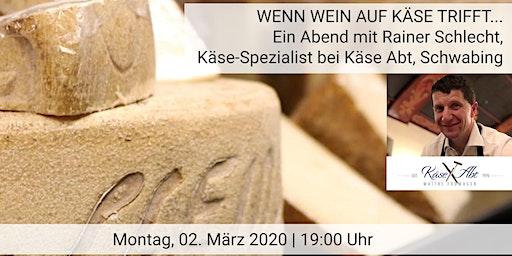 Wenn Wein auf Käse trifft…Käse-/Weinverkostung mit Käse Abt im Das Weinheim