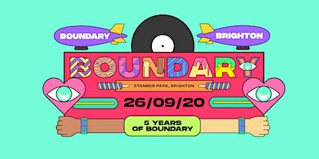 Boundary Brighton 2020 tickets