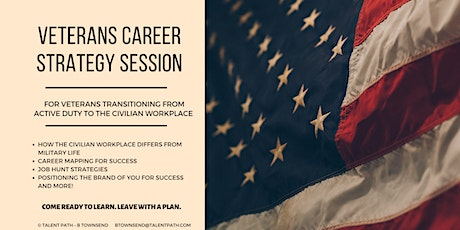FREE - Veterans Career Strategy Session tickets
