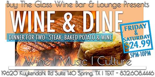 Wine & Dine| Steak Dinner for Two $24.99