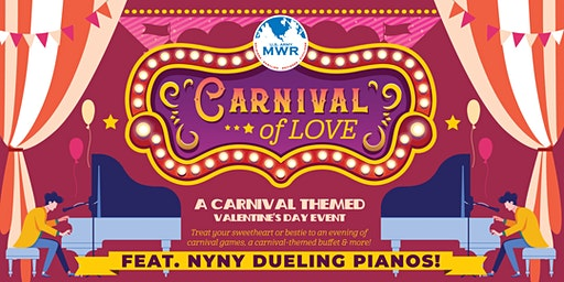 Carnival of Love Valentine's Dinner and Show with NYNY Dueling Pianos