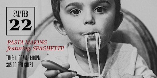 Pasta Class: Spaghetti