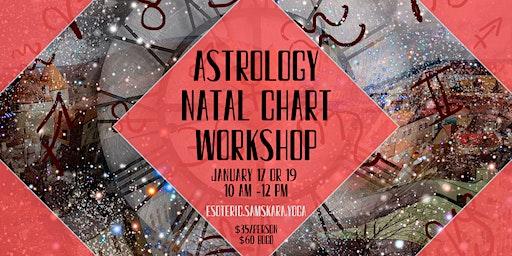 Astrology Natal Chart Workshop at Samskara Yoga & Healing