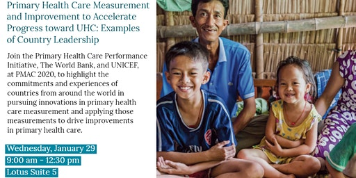PMAC 2020 Side Event: PHC Measurement & Improvement to Accelerate Progress