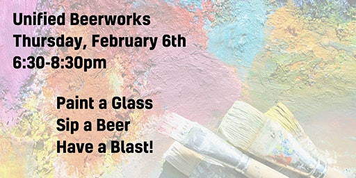 Paint-A-Glass Night at Unified Beerworks