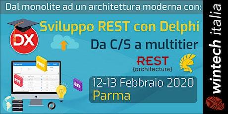 Sviluppo REST in Delphi (da C/S a multitier) biglietti