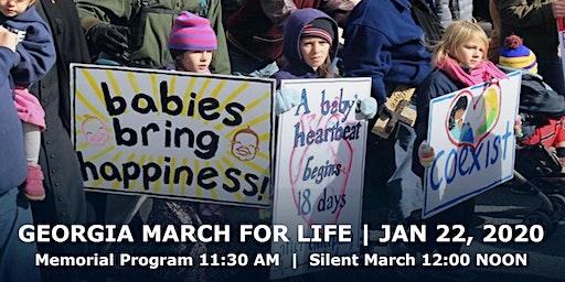 2020 Georgia March For Life & Memorial Service, Liberty Plaza, Atlanta