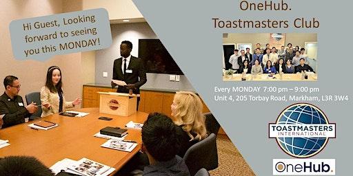 """""""One"""" Leadership Series - OneHub. Toastmasters Club - Jan.20, 2020"""