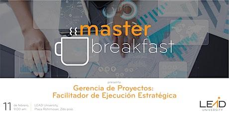 Master Breakfast - Gerencia de Proyectos entradas