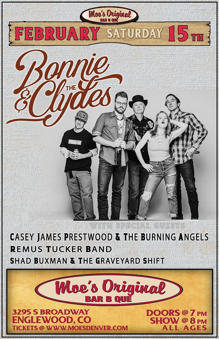 Bonnie & The Clydes w/ Special Guests image