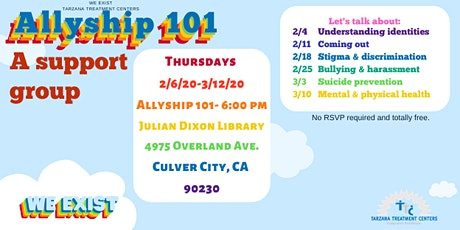 Allyship 101: Support for those who care for LGBTQI2-S young folks -West LA tickets