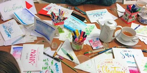 Aquarellfarben Lettering  - Wassermaleffekte mit Schrift - GRAZ