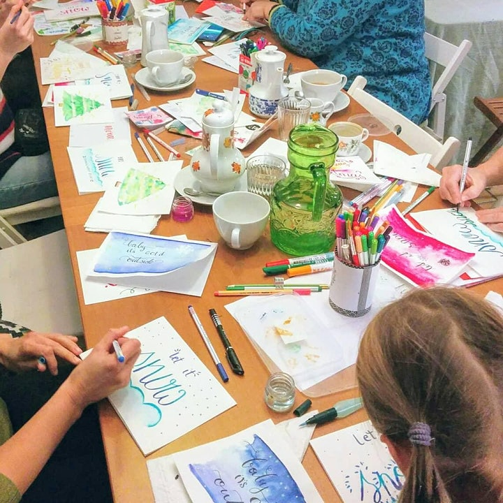 Aquarellfarben Lettering  - Maleffekte mit Handlettering: Bild
