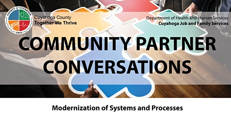 Cuyahoga Job and Family Services' Community Partner Conversation tickets
