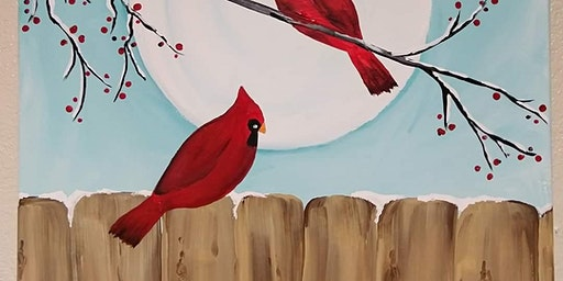 Cardinal --Paint and Sip Paint party