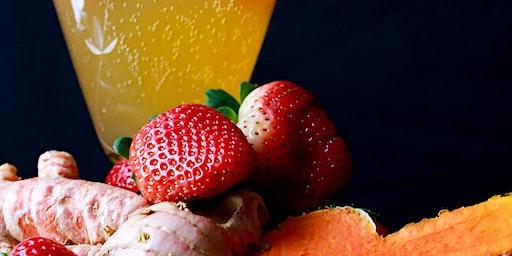 NessAlla January Bottle Release - Limited Edition CBD Kombucha: Strawberry Turmeric