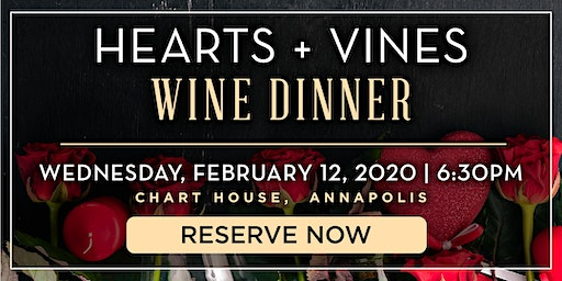 Chart House Hearts + Vines Wine Dinner- Annapolis, MD
