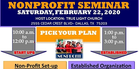 NONPROFIT SEMINAR for Established Organization tickets