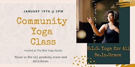 Community Yoga Class B.I.G. Yoga for All! tickets