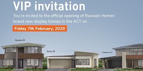Official Opening of Rawson Homes new ACT display homes tickets