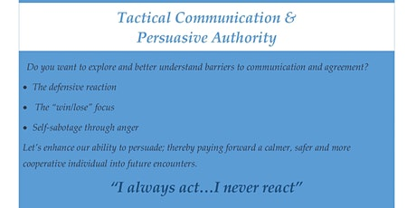 Tactical Communication & Persuasive Authority tickets