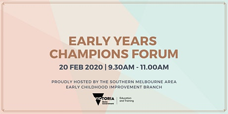 Early Years Champions Forum tickets