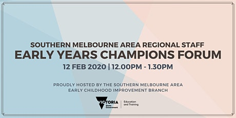 SMA Regional Staff Early Years Champions Forum tickets
