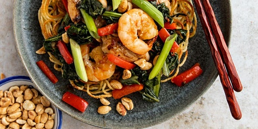Spicy Peanut Chicken and Shrimp Stir Fry